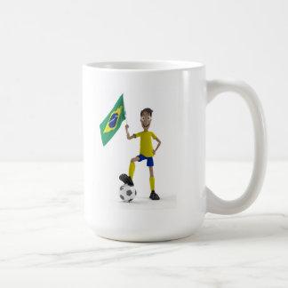 Brazil soccer classic white coffee mug