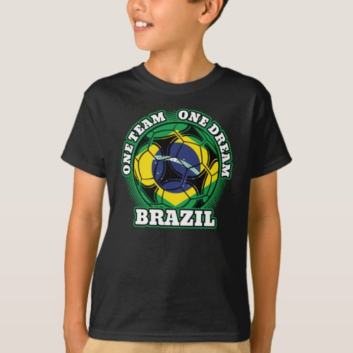 Brazil Soccer One Team One Dream T-Shirt