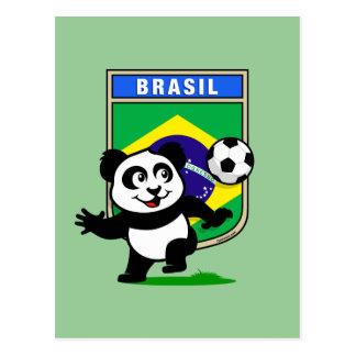 Brazil Soccer Panda Postcard