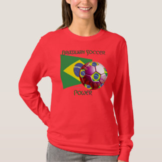Brazil Soccer Power Ladies Nano Long Sleeve Shirt
