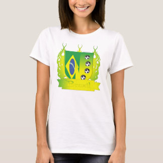 Brazil Soccer Shield3 Ladies ComfortSoft T-Shirt