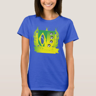Brazil Soccer Shield3 Ladies Nano T-Shirt