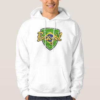Brazil soccer shield design pullover