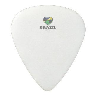 Brazil Soccer Shirt 2016 Acetal Guitar Pick