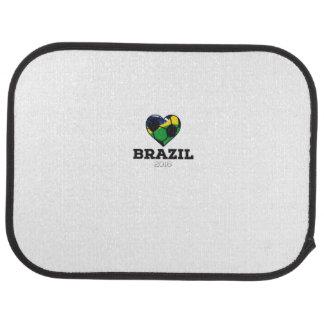 Brazil Soccer Shirt 2016 Car Floor Mat