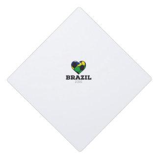 Brazil Soccer Shirt 2016 Graduation Cap Topper