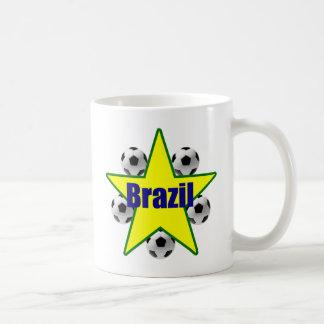 Brazil soccer stars 5soccer ball futebol fans gear coffee mug