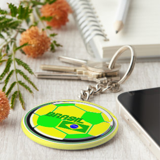 Brazil Soccer Supporters Keychains