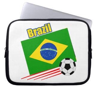 Brazil Soccer Team Laptop Sleeve