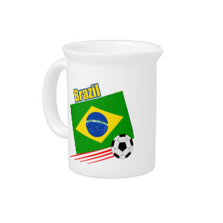 Brazil Soccer Team Drink Pitcher