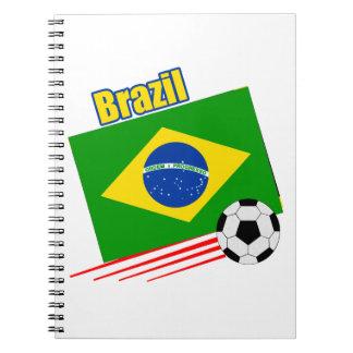 Brazil Soccer Team Spiral Notebook