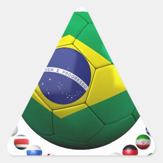 Brazil Soccer Triangle Sticker