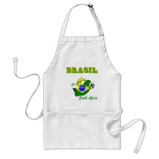 Brazil South Africa Qualifies Brasil T Adult Apron