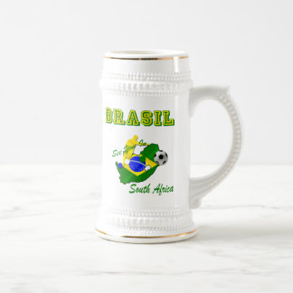Brazil South Africa Qualifies Brasil T Beer Stein