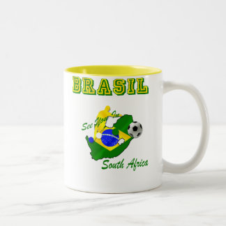 Brazil South Africa Qualifies Brasil T Two-Tone Coffee Mug