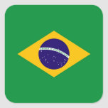 BRAZIL SQUARE STICKER