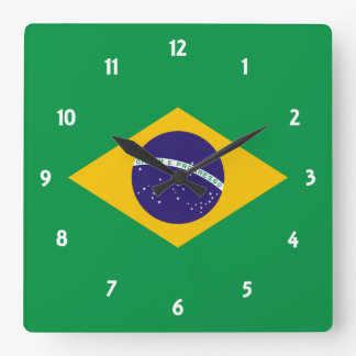brazil square wall clock