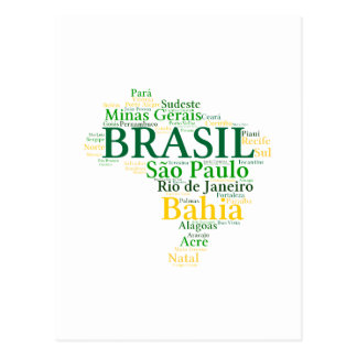 Brazil States and Capitals Post Card