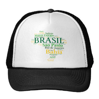 Brazil States and Capitals Trucker Hat