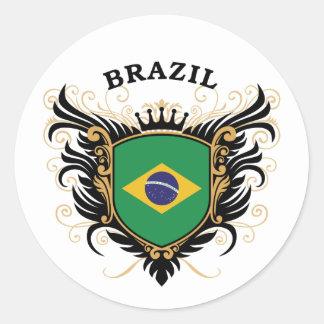 Brazil Round Sticker