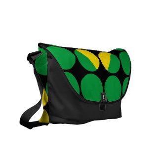 Brazil Stylish Girly Chic Polka Dot Brazilian Flag Courier Bag