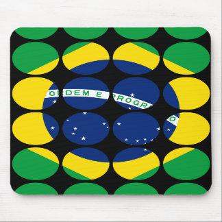 Brazil Stylish Girly Chic Polka Dot Brazilian Flag Mousepads