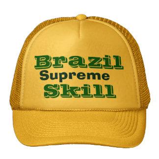 brazil supreme soccer skill trucker hat