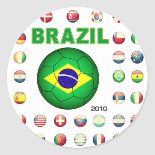 Brazil T-Shirt D7 Classic Round Sticker