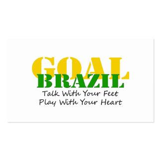 Brazil - Talk Feet Play Heart Business Card
