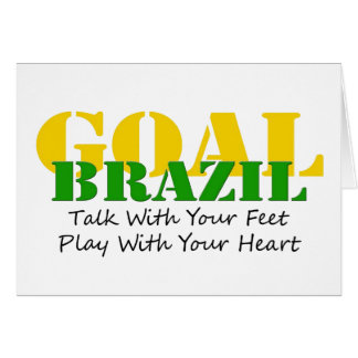 Brazil - Talk Feet Play Heart Card