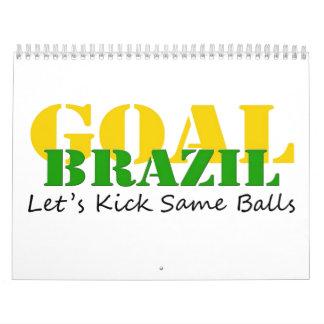 Brazil - Talk Let's Kick Some Balls Wall Calendar