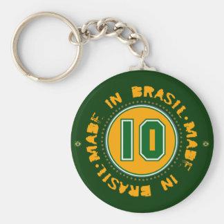 Brazil team basic round button keychain