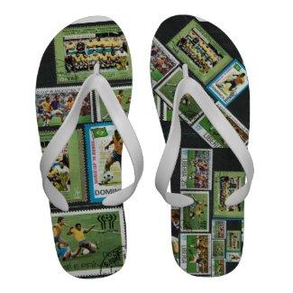 Brazil team football soccer cariocas Flip-Flops
