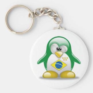 Brazil Tux Keychain