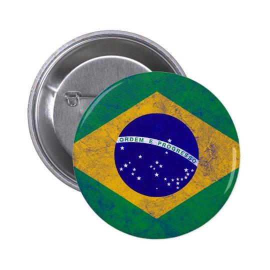 Brazil Vintage Flag Button