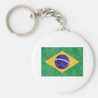 Brazil Vintage Flag Keychain
