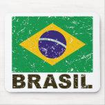 Brazil Vintage Flag Mouse Pad