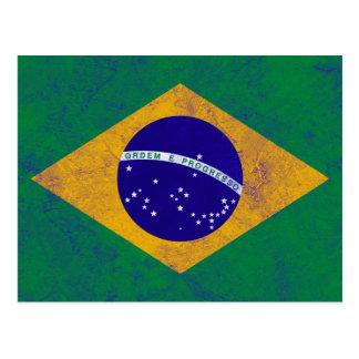 Brazil Vintage Flag Postcard