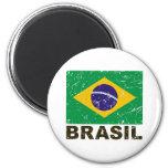 Brazil Vintage Flag Refrigerator Magnet