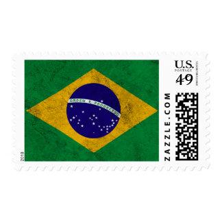 Brazil Vintage Flag Stamp