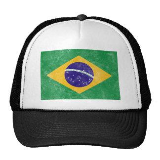 Brazil Vintage Flag Trucker Hat