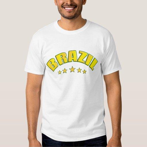 Brazil Vintage Retro Soccer Worn look T-shirt