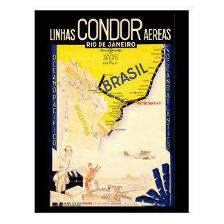 """Brazil"" Vintage Travel Post Card"