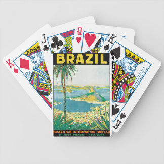 Brazil Vintage Travel Poster Bicycle Playing Cards