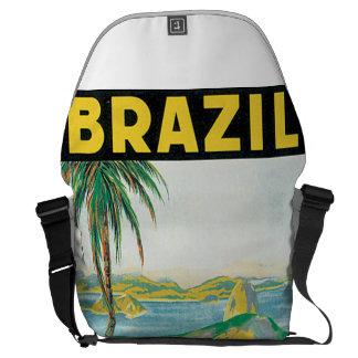 Brazil Vintage Travel Poster Messenger Bag