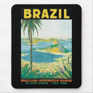 Brazil Vintage Travel Poster Mouse Pad