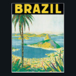 "Brazil Vintage Travel Poster Postcard<br><div class=""desc"">This product features Brazil vintage travel poster artwork. 