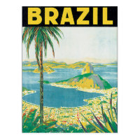Brazil Vintage Travel Poster Postcard