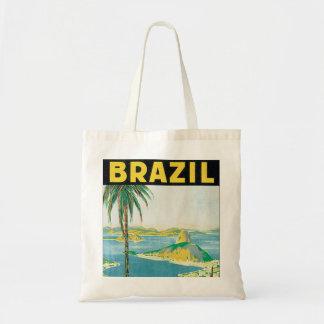 Brazil Vintage Travel Poster Tote Bag
