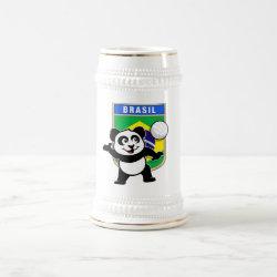 Stein with Brazil Volleyball Panda design
